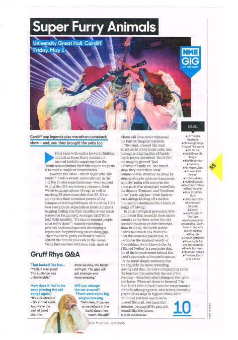NME SFA live review
